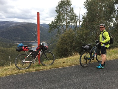 With Paul, during a brief stop on the climb to Cabramurra.
